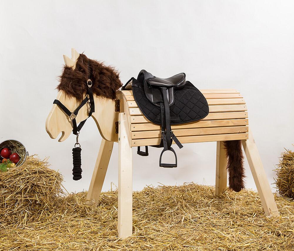 Holzpferd Voltigierpferd Pferd Pferd Pferd bew. Kopf ca.115-117cm - mit Zubehör c8aade