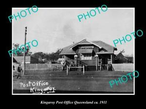 OLD-LARGE-HISTORIC-PHOTO-OF-KINGAROY-QLD-VIEW-OF-THE-POST-OFFICE-c1911