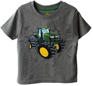 NEW John Deere Toddler Gray Tractor T-Shirt 2T 3T 4T
