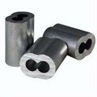 Aluminum Swage Sleeves For 5/16 Wire Rope Cable: 10, 25, 50 And 100 Pcs