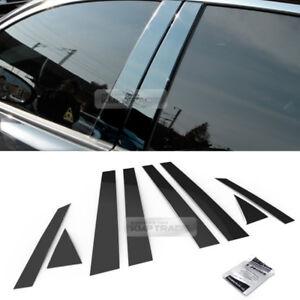 Chrome Pillar Post Flexibl Stainless PC Molding Cover Trim For KIA 11-15 Optima