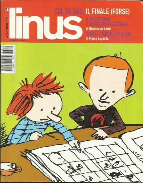 LINUS n° 10 (571) - 2012 (Baldini Castoldi Delai) Rivista Fumetti