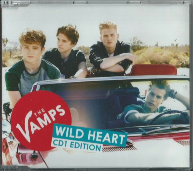 THE VAMPS - WILD HEART 2014 UK 4 TRACK CD1 SINGLE