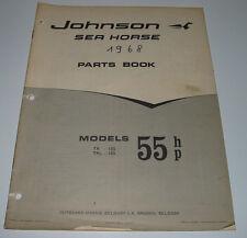 Parts Book Ersatzteilkatalog Johnson Sea Horse Models 55 HP TR - 10 S / TRL - 10
