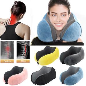 Travel-Neck-Pillow-Memory-Foam-Cushion-Soft-U-Shape-Support-Headrest-Car-Flight