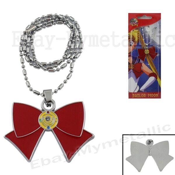 Sailor Moon Transformation Weapon Brooch Metal Pendant Necklace NIB