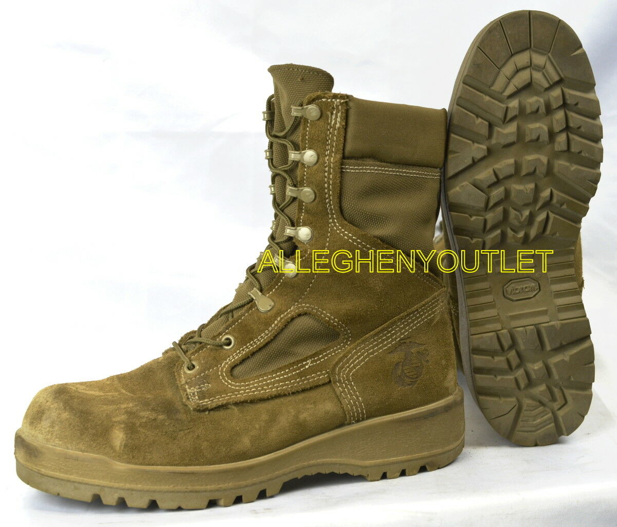MC   Military GORETEX ICB COMBAT BOOTS Vibram Soles Coyote  A Made MINT