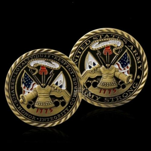 5pcs Collection Bronze Challenge Coin 1755 US Army Hollow Flags Military Coin