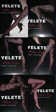 3pcs Tights Pantyhose Blacks Fishnet Lace Mix design Yelete One Size fit most