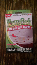 4 pack, Buggy Beds Bed Bug Monitors, Glue Traps, Early Detection