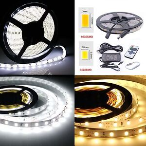 1-10m-LED-Strip-Lights-White-Waterproof-5630-3528-SMD-Flexible-Car-light-DC-12V