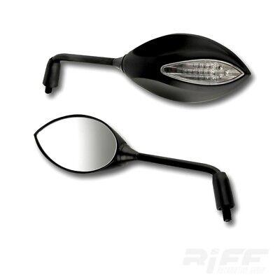 Verkleidungsspiegel mit Blinker LED Paar schwarz