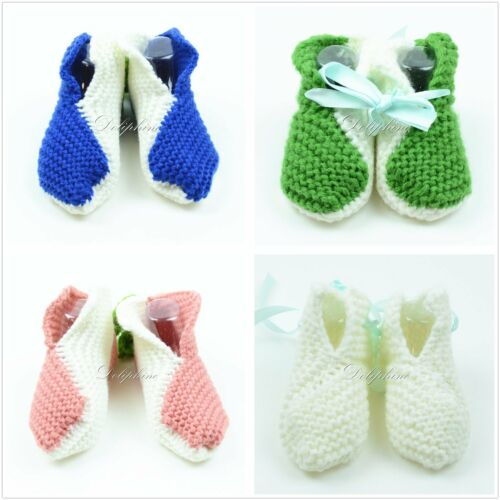 Crochet baby booties shoe knitting shoes for baby girls//boys Newborn to 6 Months