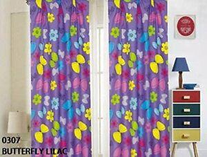 4 Piece Set Sapphire Home Kids Girls /& Boys Window Curtain Panels with tieback .