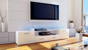 Piano Porta Tv.Dettagli Su Mobile Porta Tv Mobile Soggiorno Salotto Moderno Lucido Con Piano In Vetro