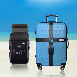 TSA-Adjustable-Travel-Luggage-Strap-Cross-Straps-Combination-Lock-Belts-Suitcase