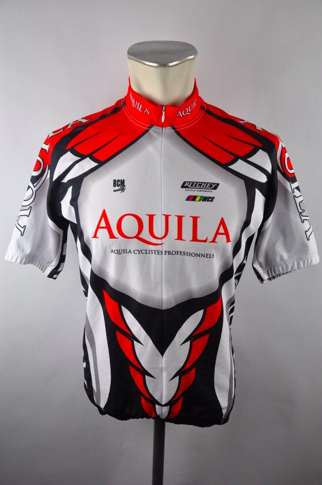 BCM Aqulia Bike cycling jersey maglia Rad Trikot Gr. M 53cm J