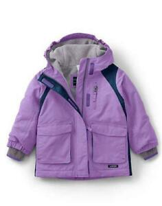 Girls' Clothing (newborn-5t) Diplomatic Lands' End Todder Girl 2t Violet Lavender Squall® Parka Or Coat Nwt $107 Outerwear