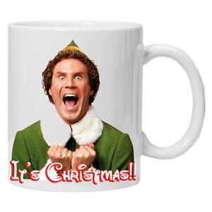 Personalised Christmas mug/cup Will Ferrell Its Christmas Perfect ...