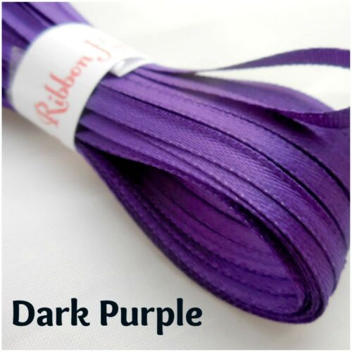 3mm Double Satin Ribbon-26 Colours-10 Metre Lengths-Tying Ribbon,Craft Supplies