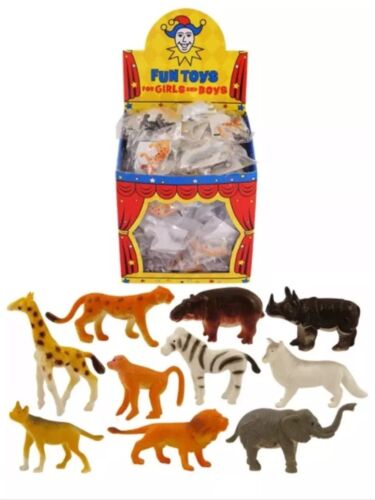 20 MINI JUNGLE ANIMAL FIGURES ideal party bag fillers