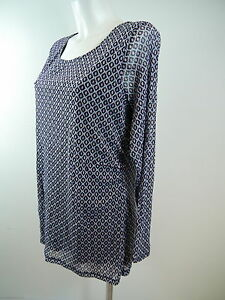 Shirt-Bluse-S-OLIVER-LA-11402314703-Stretch-gefuett-Rundhals-blau-grauGr-44-NEU
