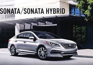 2017 Hyundai Sonata and Hybrid 20-page Original Car Sales Brochure Catalog