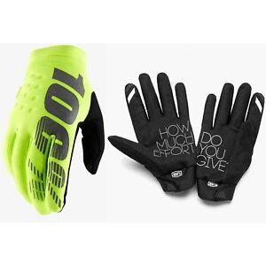 estilos de moda nuevo estilo de vida numerosos en variedad Detalles de 100% de nuestro clima Frío Invierno Motocross Enduro Bicicleta  Guantes Amarillo Neón- ver título original