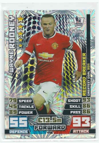 Wayne Rooney 2014 446 2015 Epl Match Attax Record Breaker