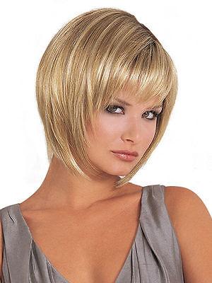 New blonde Straight Wigs Short Hair Wigs Women's Fashion Wig +wigs cap