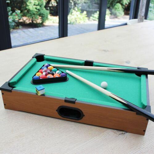 Minibillard-Set Queue Kugeln Kreide 50x30,5cm Minibillard Tischspiel Poolbillard