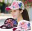 Gorra-de-beisbol-para-mujer-con-bordado-de-mariposas-y-flores-ajustable-Chicas miniatuur 1