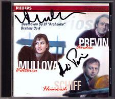 Andre PREVIN, Viktoria MULLOVA Signiert BEETHOVEN BRAHMS Trio Heinrich SCHIFF CD