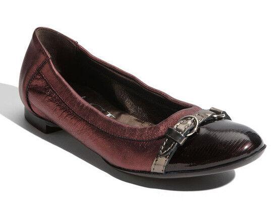 30f8327e648e0 AGL Cap Toe Ballet Flat Size EU 36/us 6 Grey/violet Metallic Attilio ...
