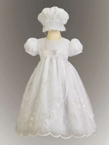 Precious-Baby-Girls-White-Embroidered-Christening-Boutique-Dress-Bonnet-Lito-USA