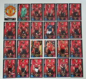 2018-19-Match-Attax-EPL-Soccer-Cards-Manchester-Utd-Team-Set-inc-shiny