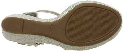 Aldo Size Lovalewet Shoes New 40 Platform High 7 Strappy Wedge Sandals Gold Heel rrFfW