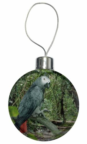 AB-PA76CB African Grey Parrot Christmas Tree Bauble Decoration Gift