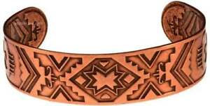 Solid-Copper-Bracelet-Southwest-Handmade-Jewelry-Cuff-Arthritis-Pain-Therapy