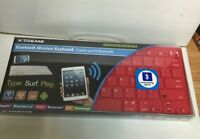 Xtreme Cables Bluetooth Wireless Keyboard, 33' Range, Red- Apple, Android, All