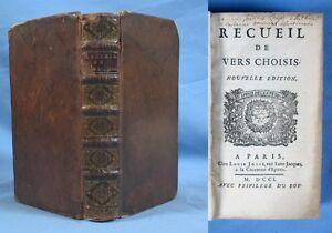 RECUEIL-DE-VERS-CHOISIS-en-2e-edition-Louis-Josse-augmentee-1701