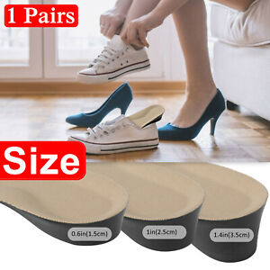 Shoe Lift Height Increase Gel Heel Insole Insert Silicone Cushion 1.5//2.5//3.5cm