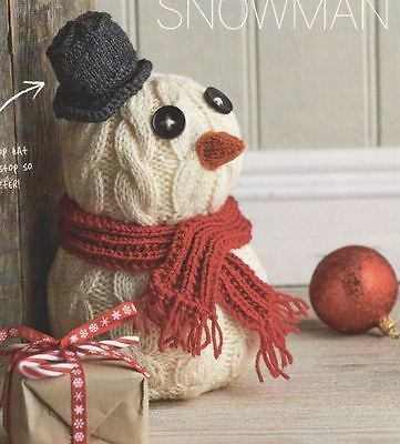 Knitting Pattern For A Lovely Snowman Doorstop Christmas To Knit