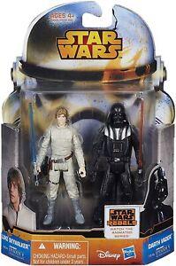 Star-Wars-Mission-Series-3-75-034-Luke-Skywalker-amp-Darth-Vader-Action-Figures-NEW