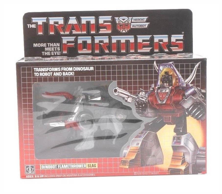 New G1 REISSUE Transformers Dinobot(s) Flamethrower SLAG Takara Free shipping