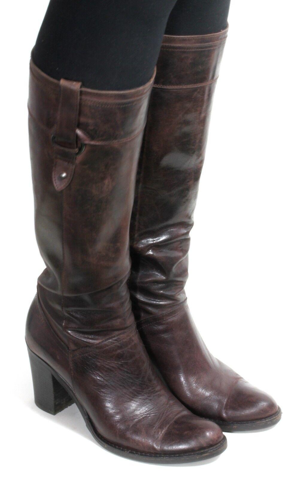 Damenstiefel Vintage Stiefel Blogger Damenschuhe Piu High Heels Langschaftstiefel 38
