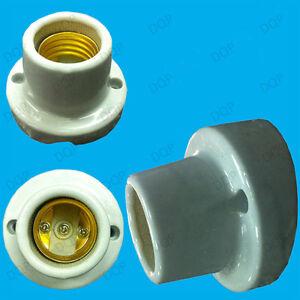 1 X Visse Vitré Support Ampoule En Céramique Es E27 à Angle Lampe Chauffante Bon Pour L'éNergie Et La Rate