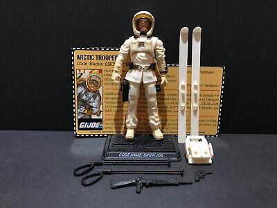 G.I Joe 25th 50th Snow Job Snowjob Figure 100/% Complete w// File Card