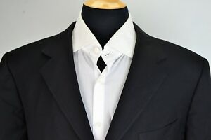 Ermenegildo-Zegna-Solid-Black-100-Wool-Sport-Coat-Jacket-Sz-46R