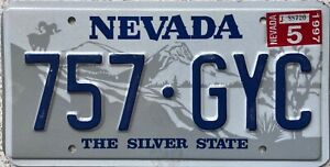 Nevada-Ram-Graphic-Pressed-American-Licence-License-USA-Number-Plate-757-GYC